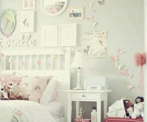 bedroom, room, and butterfly image