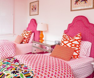 bedroom, pink, and fruity image