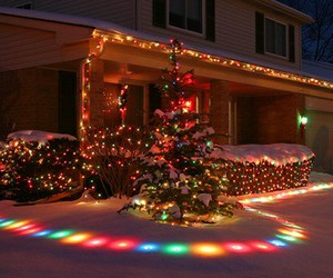 christmas, lights, and love image