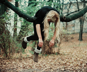 girl, tree, and blonde image
