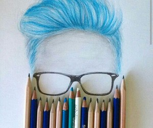 tyler oakley, art, and drawing image