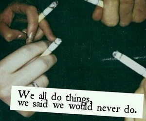 always, cigarette, and grunge image