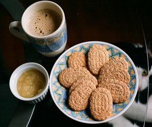 food, coffee, and Cookies image