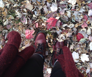 autumn, doc martens, and fall image