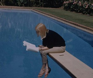 blonde and pool image