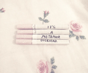 cigarette, pastel, and flowers image