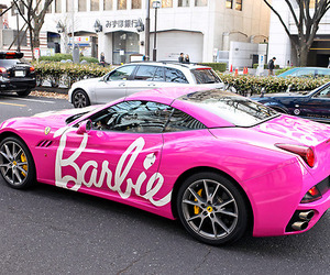 car, barbie, and pink image