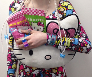 cutie, girl, and hello kitty image