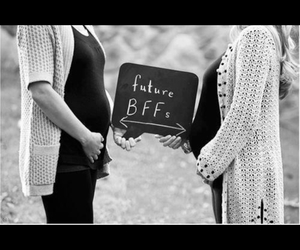 bff, mother, and pregnant image