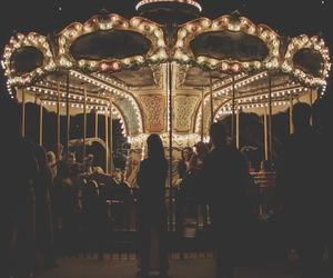 light, carousel, and night image