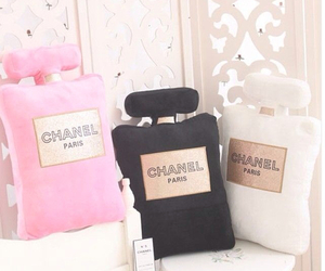 chanel, pink, and pillow image