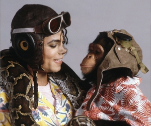 michael jackson and bubbles image