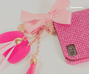 pink, iphone, and bow image