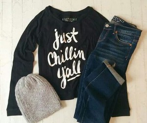 outfit, aeropostale, and autumn image
