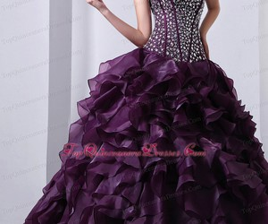 dress, quinceanera, and train image