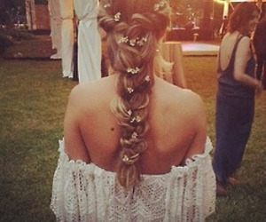 boho, lace, and braid image