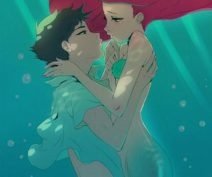 ariel, disney, and anime image