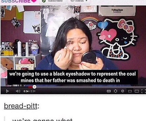 funny, makeup, and tumblr image