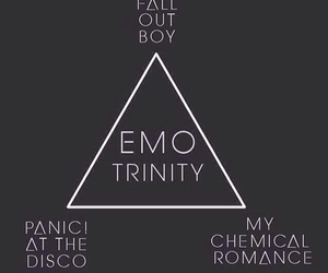 panic! at the disco, fall out boy, and my chemical romance image