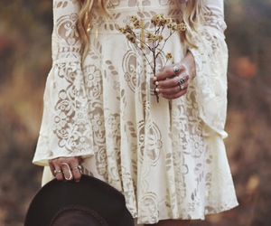 dress, boho, and fashion image