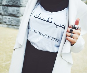 hijab, arabic, and style image