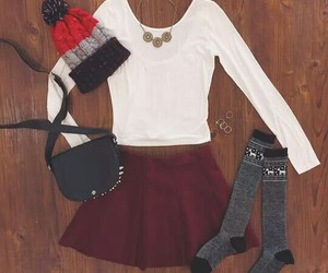 outfit, aeropostale, and skirt image