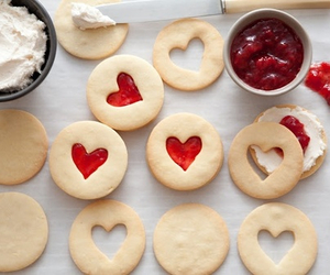 food, Cookies, and heart image