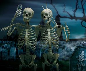 selfie, skeleton, and funny image