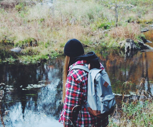 exploring, girl, and nature image