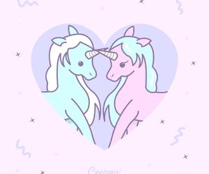 unicorn, love, and pastel image