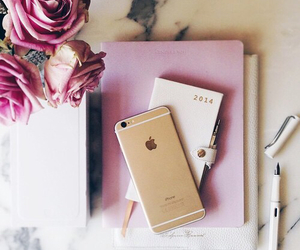 iphone, pink, and flowers image