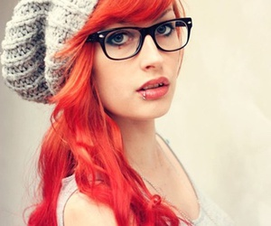 accessories, glasses, and lip piercing image