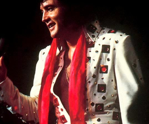 Elvis Presley, king of rock and roll, and jumpsuit image