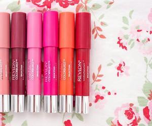 balm, colorful, and lipstick image