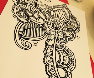 dessin, draw, and flowers image