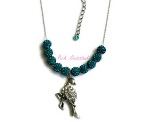 crystal necklace, peacock necklace, and fashion jewelry image