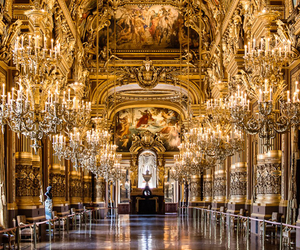 chandelier, gold, and palace image