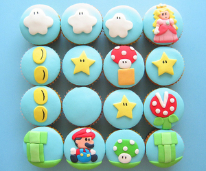 cupcake, mario, and food image