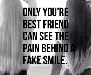 pain, quote, and friends image