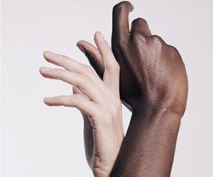 hands, black, and white image