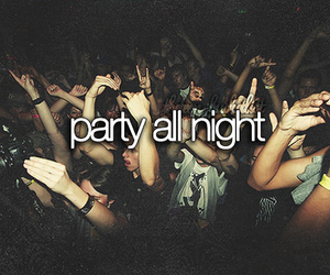 party, night, and teenager image