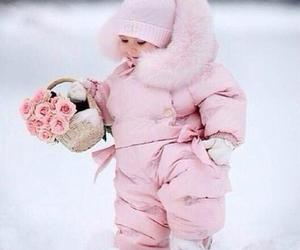 pink, baby, and winter image