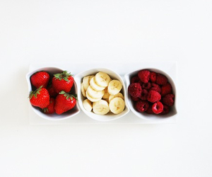 fruit, strawberry, and banana image