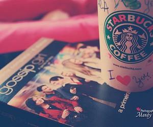 starbucks, gossip girl, and coffee image