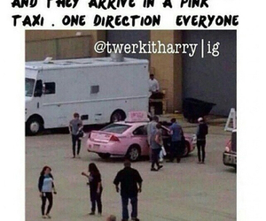 one direction, 1d, and pink taxi image