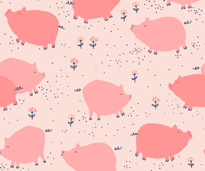 pig, wallpaper, and background image