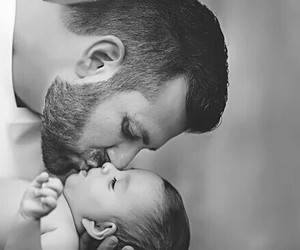 baby, love, and father image