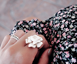 fashion, flowers, and ring image