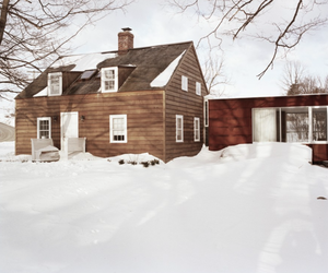 architecture, winter, and cottage image