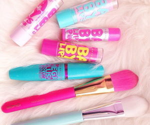 pink, baby lips, and makeup image